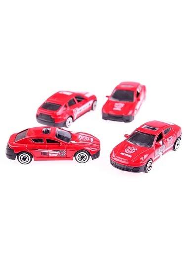 4'lü Metal Diecast İtfaiye Araba Seti-Motor Max